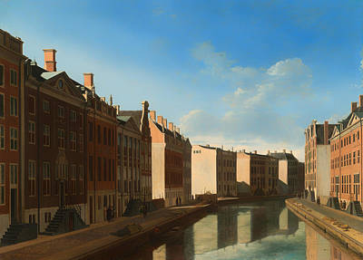 Netherlands Painting - Canal Of Amsterdam by Mountain Dreams