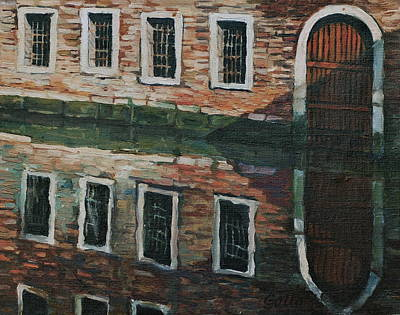 Venetian Doors Painting - Canal Reflections by Colleen Gallo