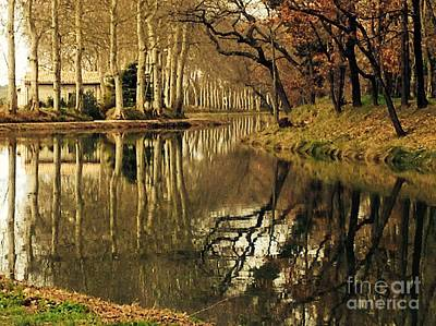 Cathar Country Photograph - Canal Reflections by France  Art