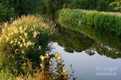 Photograph - Canal Reflections by Jeremy Hayden