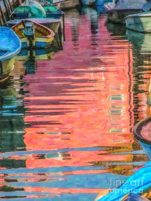 Digital Art - Canal Reflections by Liz Leyden