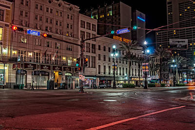 Photograph - Canal Street And Carondelet - New Orleans by Andy Crawford