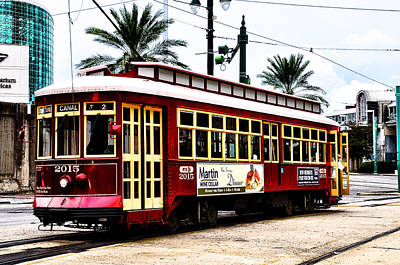 Canal Street Car Art Print by Bill Cannon