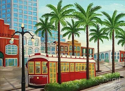 Canal Street Car Line I I Art Print