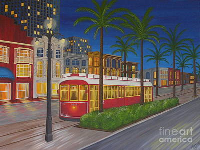 Canal Street Car Line Art Print