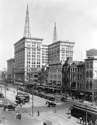 Canal Street Photograph - Canal Street In New Orleans by Underwood Archives