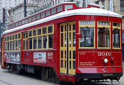 Photograph - Canal Streetcar Nola by Christopher James