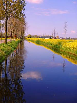 Wall Art - Photograph - Canal Stretching Yellow by Jackie and Noel Parry