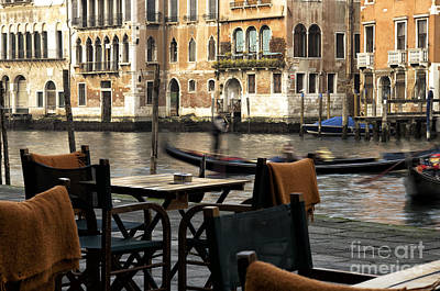 Photograph - Canal View From The Table by John Rizzuto