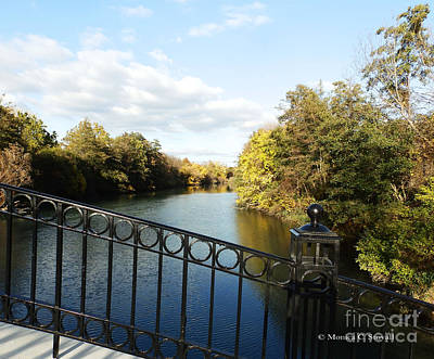 Photograph - Canal View From Top Of Footbridge - M Landscapes Fall Collection No. Lf23 by Monica C Stovall