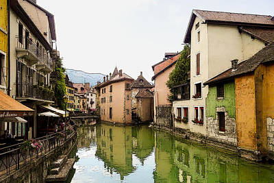 Photograph - Canal View Number 1 Annecy France by Jonah Gibson