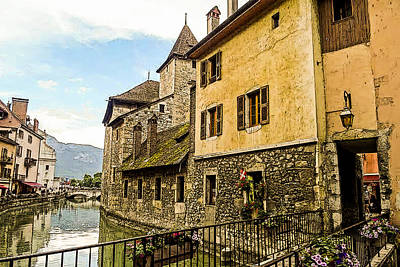 Photograph - Canal View Number 2 Annecy France by Jonah Gibson