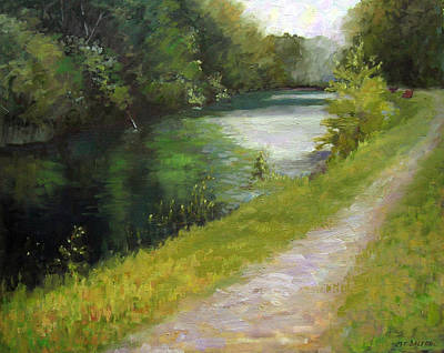 Canal Walk Painting - Canal Walk by Kit Dalton