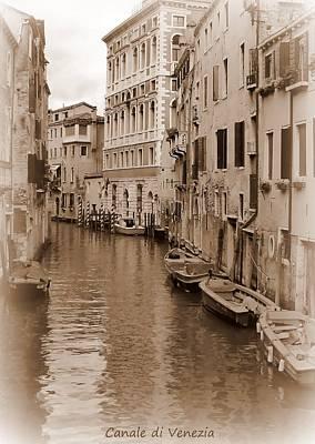 John Tidball Photograph - Canale Di Venezia by Bishopston Fine Art