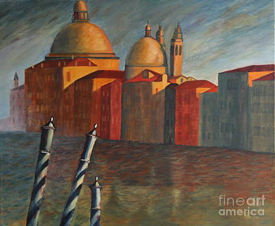 Grande Painting - Canale Grande Venice by Christiane Schulze Art And Photography