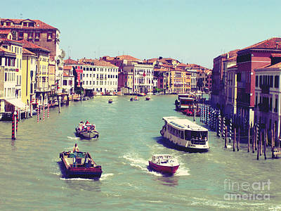 Canale Grande Venice Italy Art Print by Ernst Cerjak