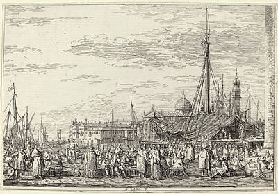 Canaletto Italian, 1697 - 1768, The Market On The Molo Art Print by Quint Lox