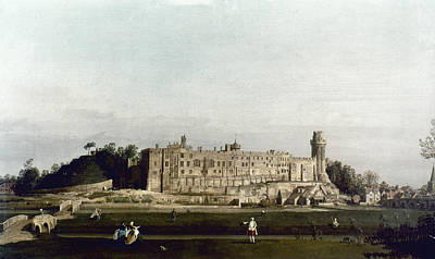 Warwick Castle Painting - Canaletto Warwick by Granger
