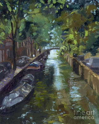Painting - Sold Canals Of Coexistence by Nancy  Parsons