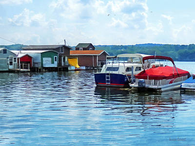 Canandaigua Lake Photograph - Canandaigua Fishing Shacks by Susan Savad