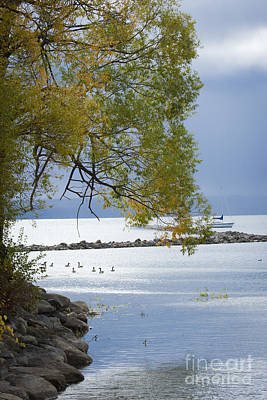 Canandaigua Lake Outlet Print by Roger Bailey