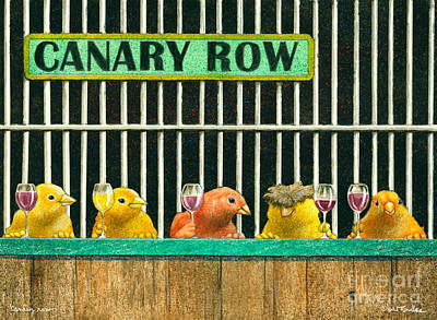 Canary Painting - Canary Row... by Will Bullas