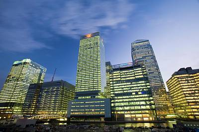 Banker Photograph - Canary Wharf In London Uk by Ashley Cooper