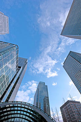 Financial District Photograph - Canary Wharf by Majaiva