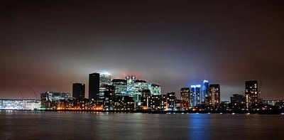 Canary Photograph - London Skyline by Mark Rogan