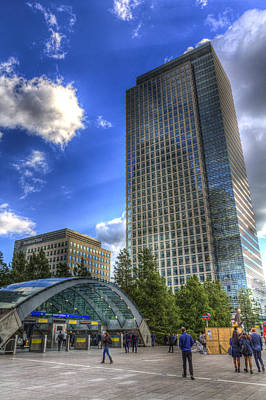 London Tube Photograph - Canary Wharf Station London by David Pyatt