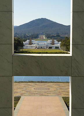 Canberra - Parliament House View Art Print by Steven Ralser