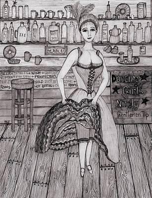 Cancan Dancer Art Print by Barbara St Jean