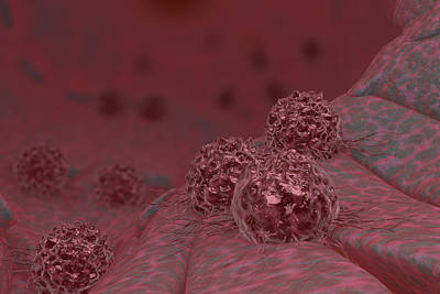 Photograph - Cancer Cells, Illustration by Ella Marus Studio