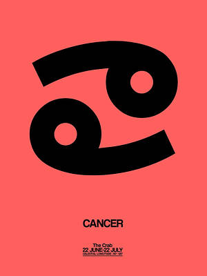 Digital Art - Cancer Zodiac Sign Black by Naxart Studio
