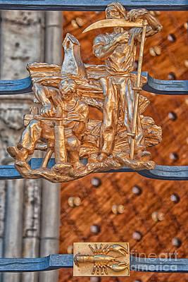 Prague Photograph - Cancer Zodiac Sign - St Vitus Cathedral - Prague by Ian Monk