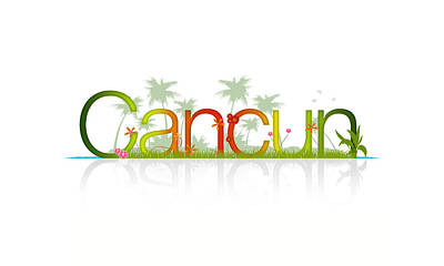 Fun Flowers Drawing - Cancun Mexico by Aged Pixel