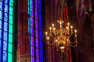 Candelabra, St Stephens Cathedral Art Print by Peter Adams