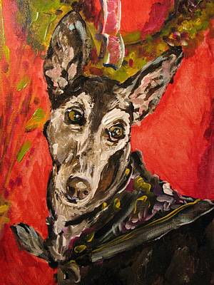 Rescued Greyhound Painting - Candi Suzanne by Susan E Jones