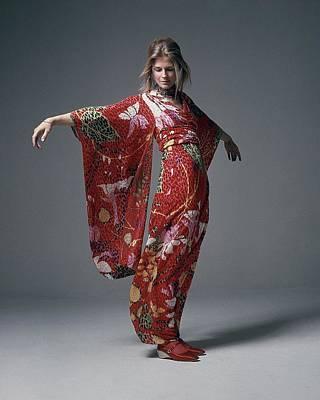Photograph - Candice Bergen Wearing A Bill Blass Dress by Bert Stern