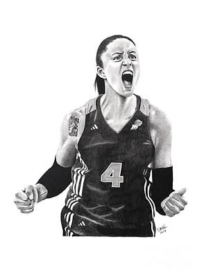 Drawing - Candice Dupree Passion by Devin Millington