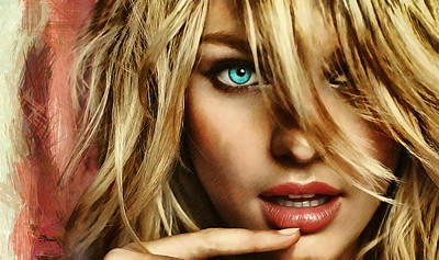 Actrice Digital Art - Candice by Luis Blanco
