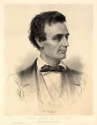 1860 Drawing - Candidate For The Presidency Abraham Lincoln 1860 by Mountain Dreams