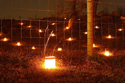 Photograph - Candle At Wire Fence 12 by Judi Quelland