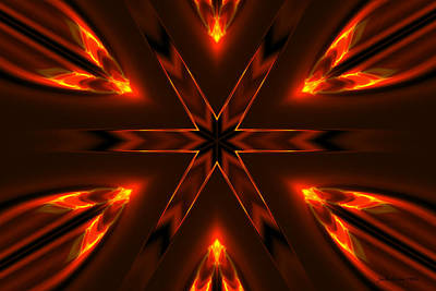 Digital Art - Candle Flame Kaleidoscope by Judi Suni Hall