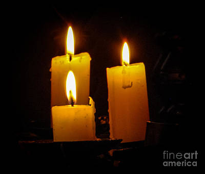 Photograph - Candle Glow by Grace Grogan