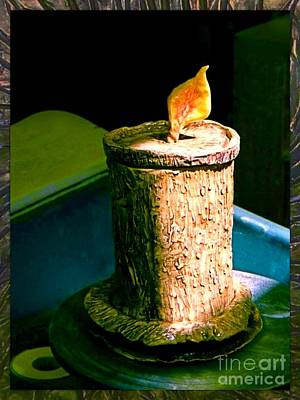 Ceramic Art - Candle Jar On Potter's Wheel by Joan-Violet Stretch
