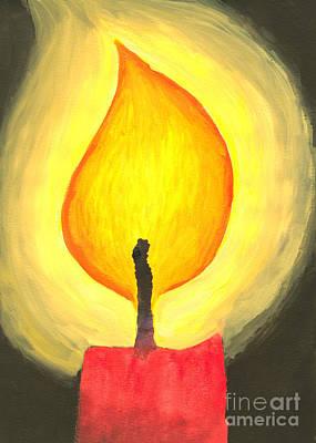Candle Light Art Print by Kerstin Ivarsson