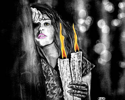 Tears Drawing - Candle Light by Rishabh Ranjan