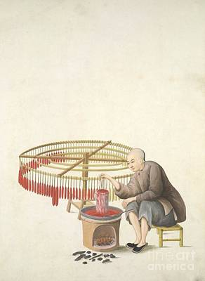 Candle-maker, 19th-century China Art Print by British Library
