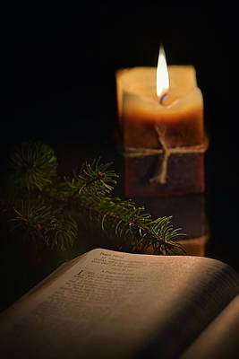 Photograph - Candle Psalm 140 by Dennis James